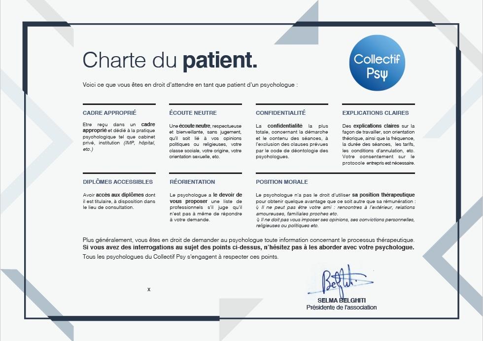 La Charte du Patient