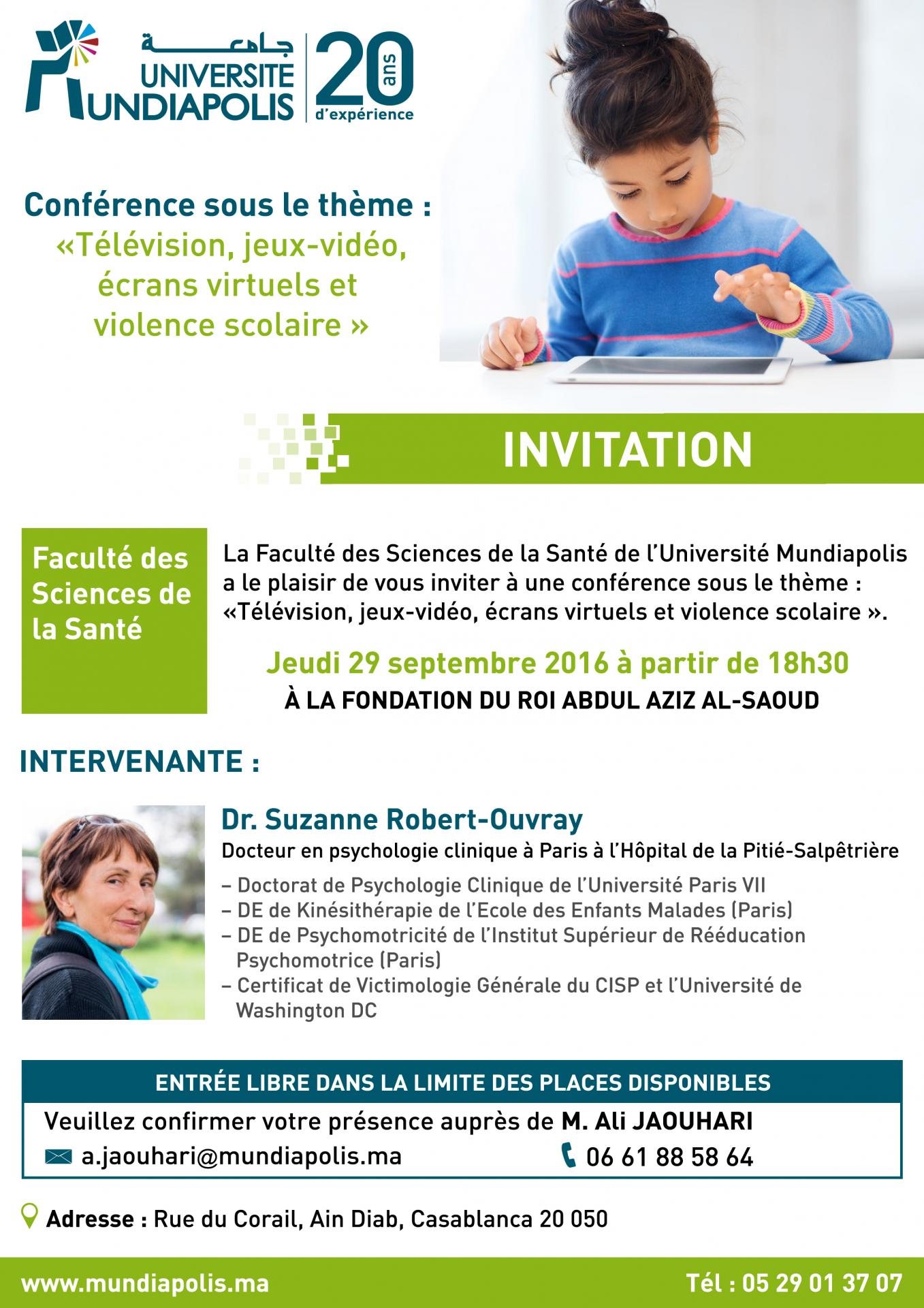 Invitation conference fss universite mundiapolis
